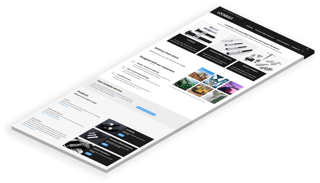 Lockbolt ERS Website Design