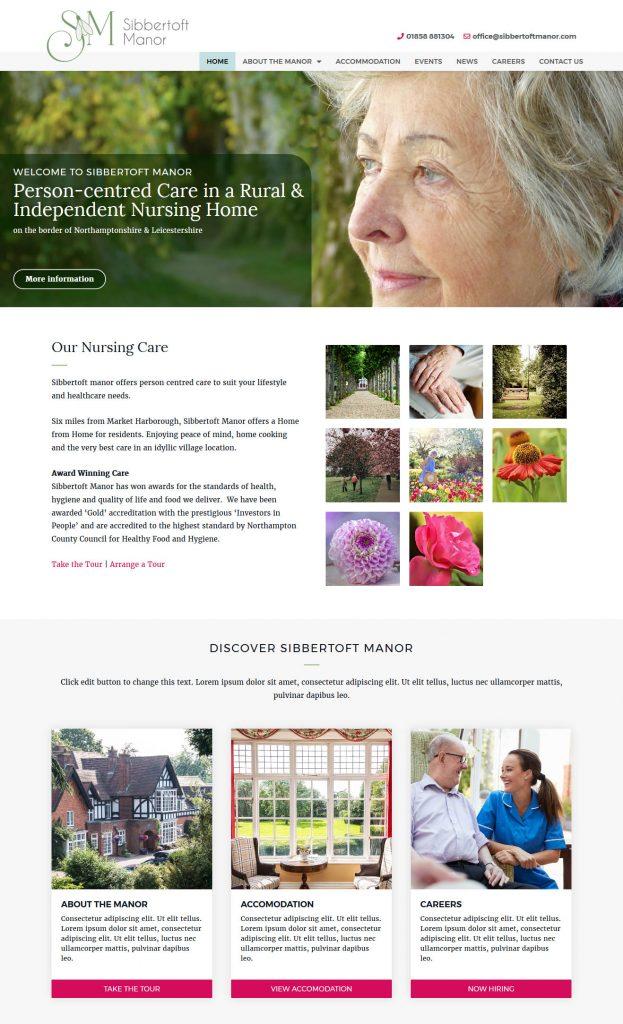 Care Home with Nursing Website
