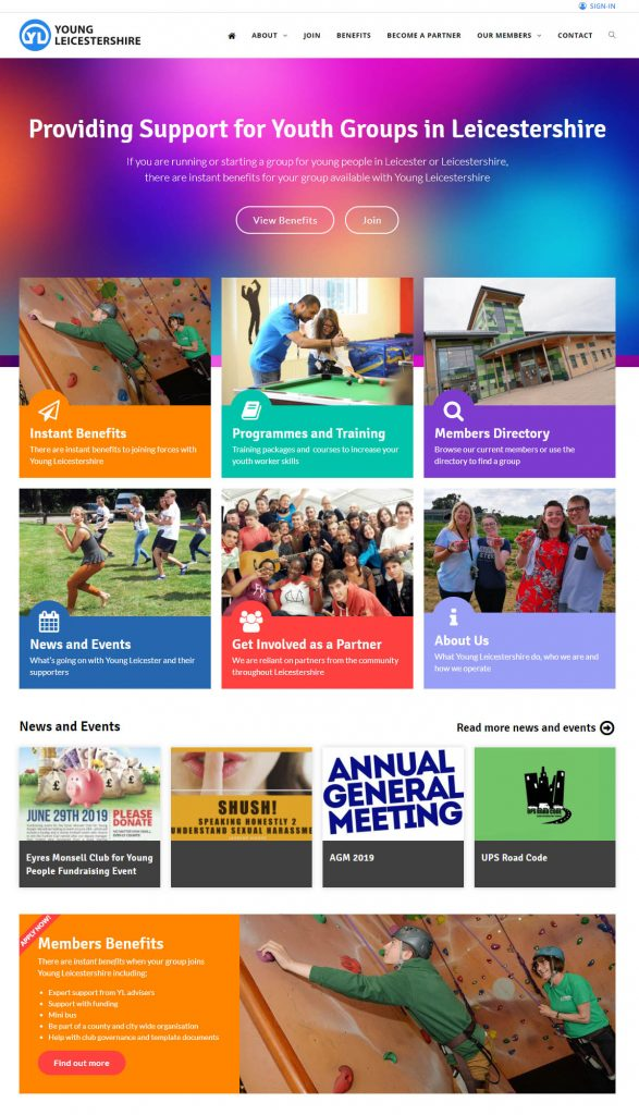 Youth Group Resources, Blaby, Website Design