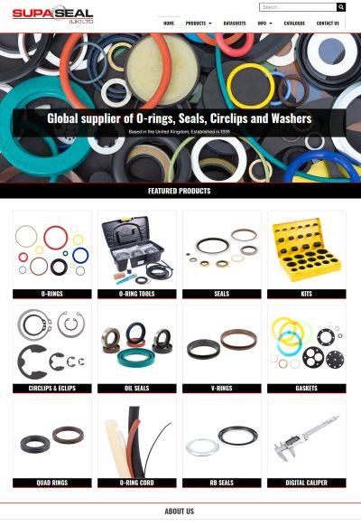 Industrial Components Website Design